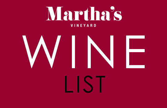 Marthas wine list