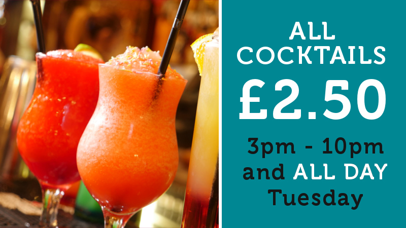 All Cocktails £2.50